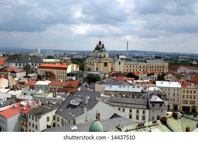 view to church St Michal in the Olomouc - Czech