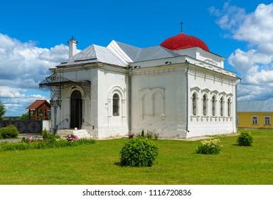 View of the Church of St. Nicholas Gostiny in Kolomna Kremlin, built in 1501, landmark