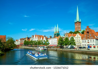 View of the Churches in Luebeck, Germany