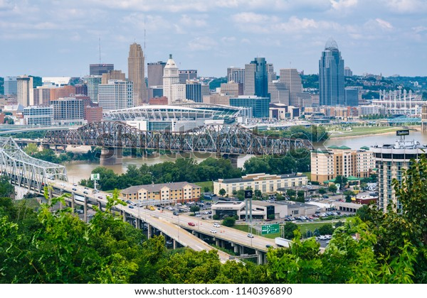 View of Cincinnati, from Devou Park in Covington, Kentucky.