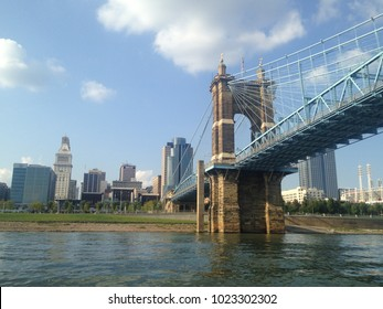 View of Cincinnati from the river