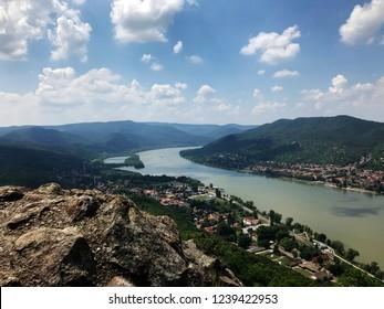 View from Visegrád citadel