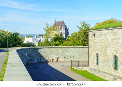 View of the citadel fortifications, Quebec City, Quebec, Canada