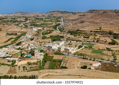View from Citadel Victoria. Citadel Victoria is a fortified city of St. John's bastion inside the citadel of Malta. Gozo Island. UNESCO World Heritage Site.
