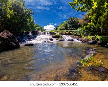 View of 'Citron' Waterfall  (Cascade Citron) located in the north west of Mauritius island