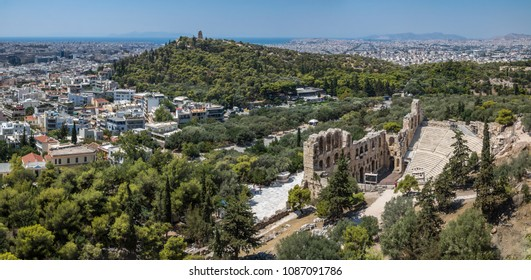 View to the city from Akropolis, Athens, Greece