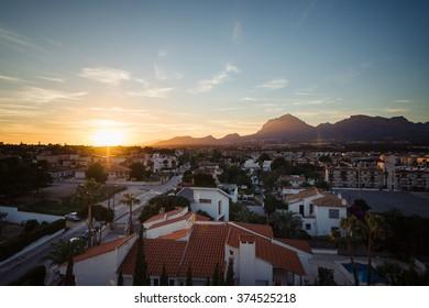 View to the city Albir, Spain