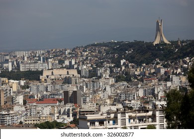 View of the city of Algiers, on the day