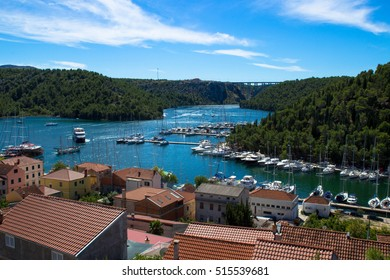 view of the city and the bay - Skradin Croatia