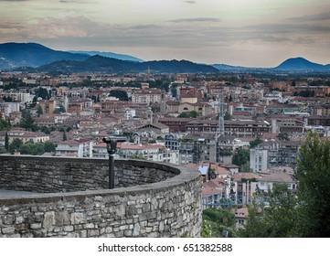 View of the city,  Bergamo, Italy