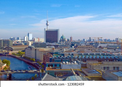 View of the city of Berlin in Germany