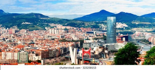 Aussicht auf Bilbao, Spanien