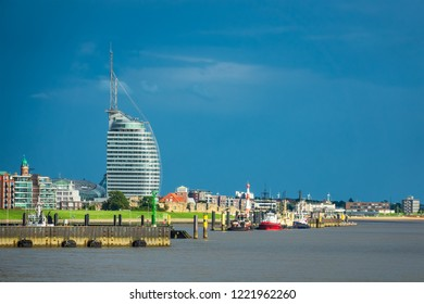 View to the city Bremerhaven in Germany.