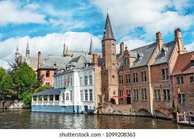 View of city center of Bruges - Belgium