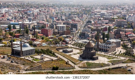 View of the city center from Kars castle. Kars is a city in northeast Turkey and the center of Kars Province.