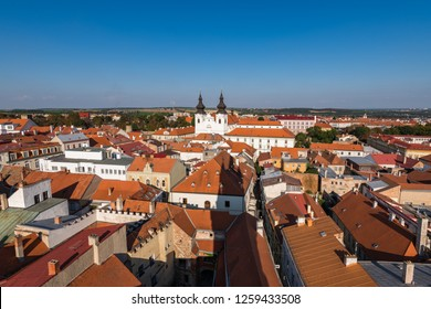 View of the city center of Znojmo from the Town Hall tower