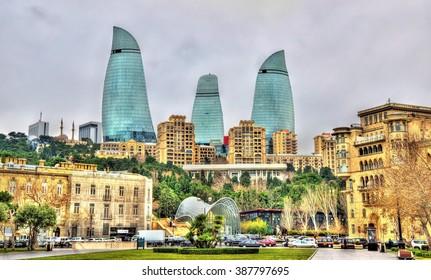 View of the city centre of Baku - Azerbaijan