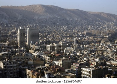 a view of the city centre of Damaskus before the war in Syria in the middle east.  Syria, Damascus, April, 2009