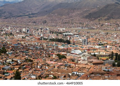 View of the city of Cusco from the ancient site of Saqsaywaman