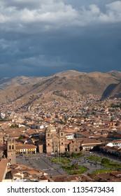 A view of the city of Cusco, Peru