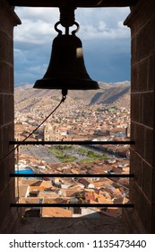 A view of the city of Cusco, Peru from the tower of San Cristobal Church