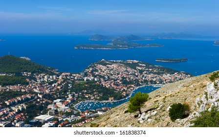 view of the city of Dubrovnik, Croatia