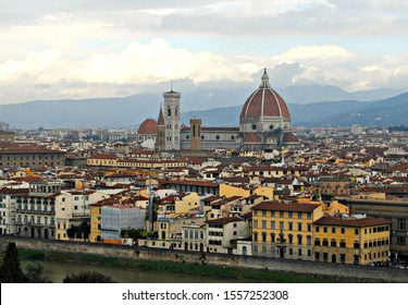 View of the city of Florence from a hilltop