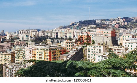 View of the city of Genoa in Italy