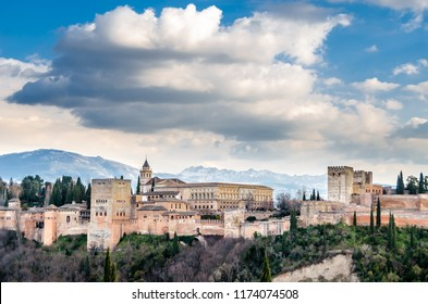 View of the city of Granada, southern Spain