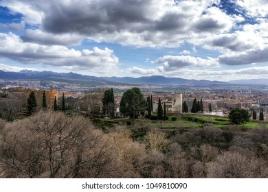 View of the city granada in Spain. Taken from atop of Alcazaba in Alhambra palace