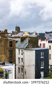 View of the city of Granville and its Saint-Paul Church (Manche, Normandy)