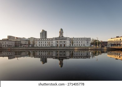 A view of City Hall in Cork City, Ireland.