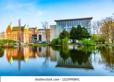 View of the city library in Malmo, Sweden
