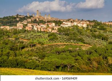 View of City Line of San Gimignano - San Gimignano, Tuscany, Italy