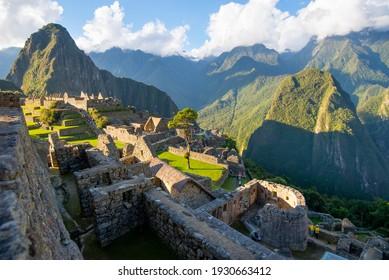 View of the city of Machu Picchu Peru