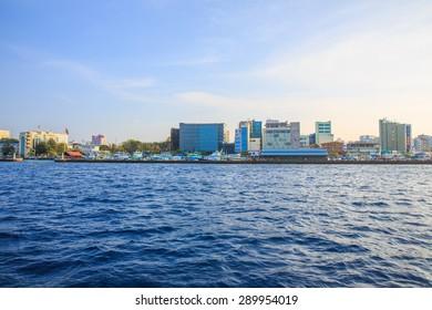 View of the city Male, Maldives