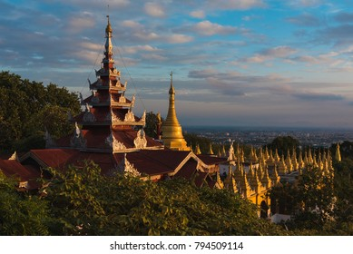 View of the city of Mandalay in Burma (Myanmar) from Mandalay Hill