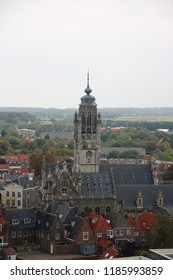 View of the city of Middelburg from the Lange Jan