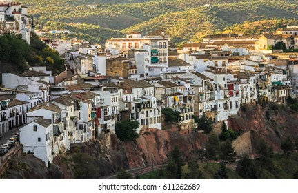 View with the city of Montoro,Spain, from the Andalusia region,in the summer,on a hot day.