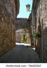 View of the city of Murlo, Italy