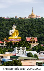 View of the city of Nakhon Sawan Province, Thailand.