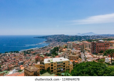 View of the city of Naples, Italy and the Gulf of Naples