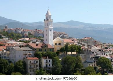 View of the city. Novi Vinodolski, Croatia.