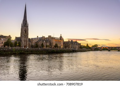 View of the city of Perth in Scotland