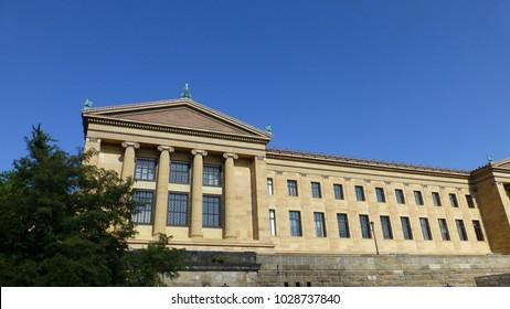 View in the city of Philadelphia, Pennsylvania.  Fall 2014.