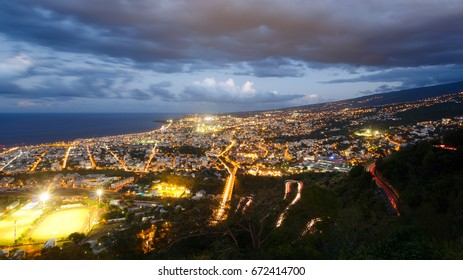 View of the city of Saint Denis, La Réunion