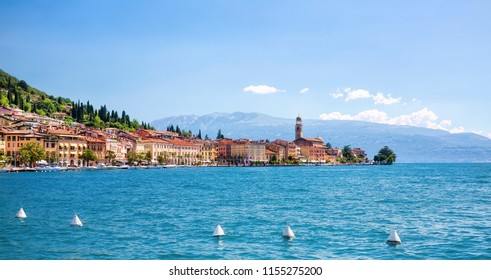 View of the City of Salo in Lake Garda, Italy