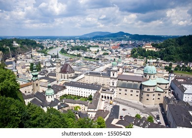 View of city of Salzburg in Austria