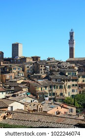 View of the city of Siena, Italy