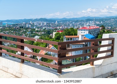 View of city of Sochi from the observation deck. Russia